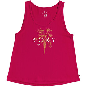 Roxy Closing Party Logo Top Sin Mangas Mujer, Turquesa